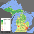 Michigan population map.png