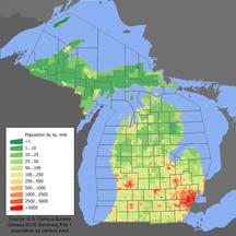Michigan-Demographics-Michigan population map
