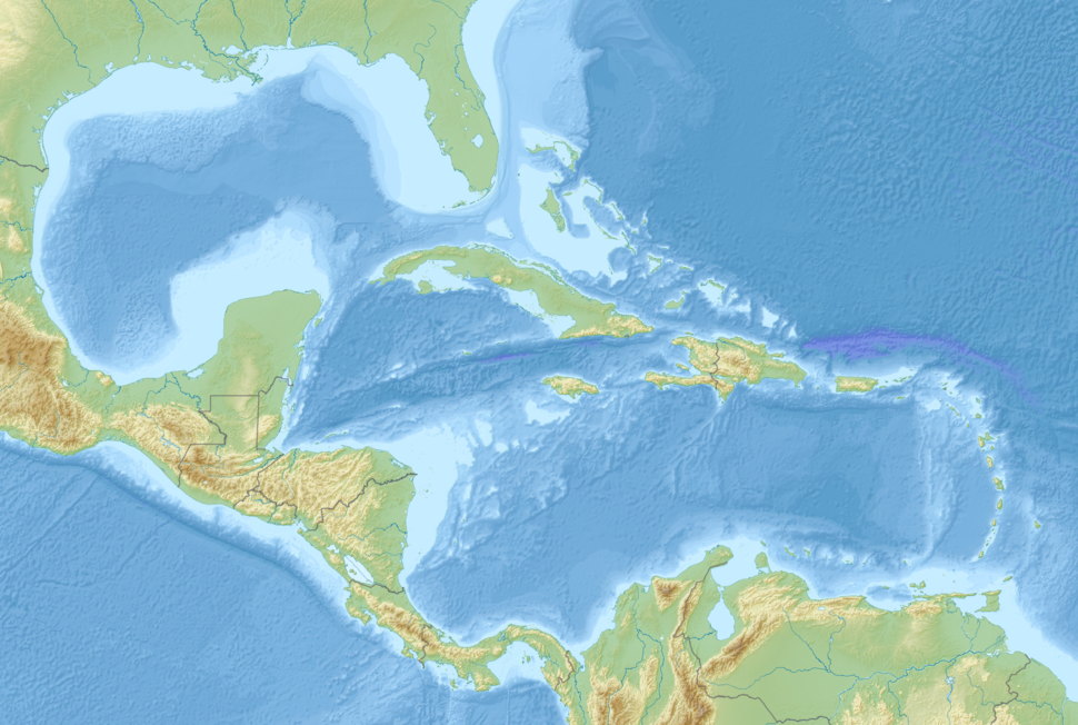 1843 Guadeloupe earthquake is located in Middle America
