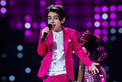 Mika at stage of JESC 2015.jpg