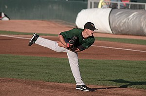 Mike Belfiore - Belfiore pitching for the South Bend Silver Hawks, single-A affiliates of the Arizona Diamondbacks, in 2010