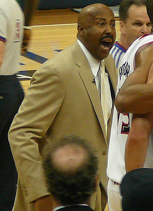 Mike Woodson - Woodson coaching the Hawks in the 2008 NBA playoffs.