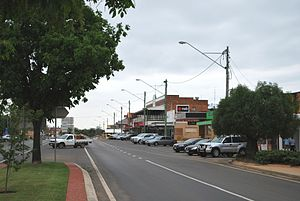 Miles, Queensland - The main street of Miles