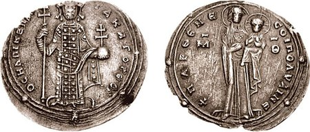 Emperor Romanus III (depicted on coin) of the Byzantine Empire persuaded the Jarrahids to relocate their encampments close to his territory in Antioch, where they served as allies of the Byzantines in their campaigns against regional Muslim states. Miliaresion-Romanus III-sb1822.jpg