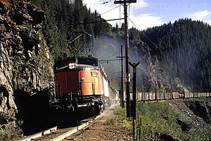 Little Joe (electric locomotive) - A Milwaukee Road unit in freight use