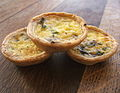 Mini mushroom and cheddar quiches, 2007.jpg