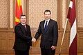 Ministru prezidents Valdis Dombrovskis piedalās pusdienās par godu Bijušās Dienvidslāvijas Republikas Maķedonijas prezidenta Gjorges Ivanova vizītei Latvijā (6972148636).jpg