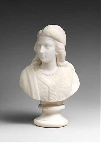 The Song of Hiawatha - Minnehaha, by Edmonia Lewis, marble, 1868, collection of the Metropolitan Museum of Art