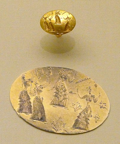 Isopata Minoan gold seal ring