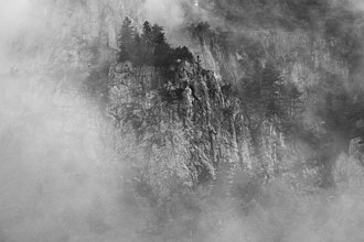 Misty Mountains - The Swiss Alps at Vallon de Nant
