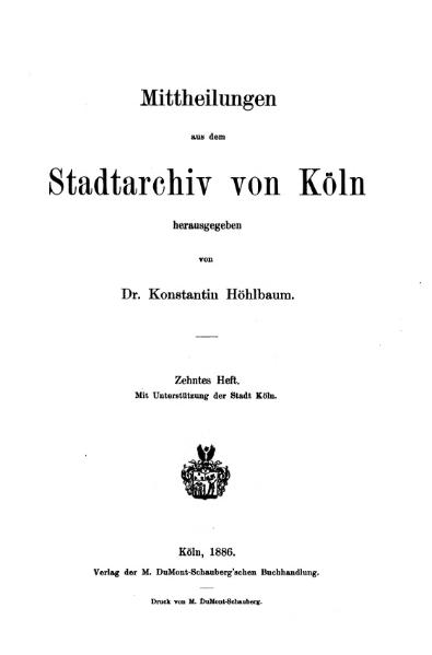 File:Mitteilungen aus dem Stadtarchiv von Köln 1886-10.djvu