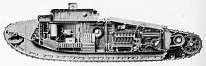 Tank Mark VIII - The internal fittings of the Mark VIII