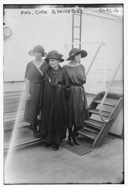 File:Mme. Curie & daughters LCCN2014712813.tif