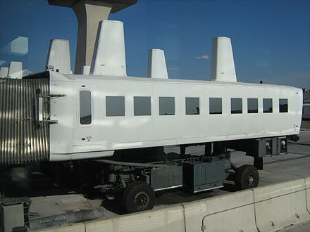 The distinctive mobile lounge at Dulles - Washington Dulles International Airport