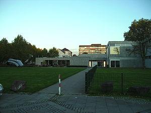Saarland Museum - Modern Gallery: entrance.
