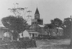 Mokuaikaua Church - Image: Mokuaikaua Church, ca. 1890
