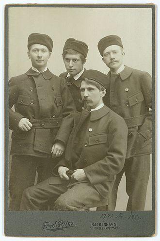 Harald Moltke - Harald Moltke (far left), with Ludvig Mylius-Erichsen, Knud Rasmussen and Alfred Bertelsen
