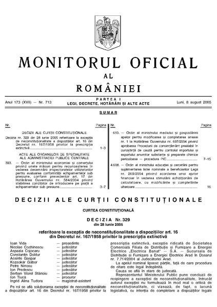 File:Monitorul Oficial al României. Partea I 2005-08-08, nr. 713.pdf