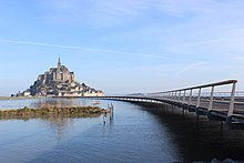 Mont Saint Michel In  With The New Bridge