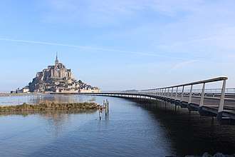 Mont-Saint-Michel - The Mont Saint-Michel in 2014 with the new bridge