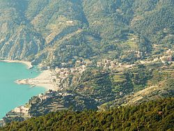 Skyline of Monterosso al Mare