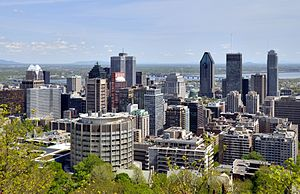 Downtown Montreal - Image: Montreal QC Skyline