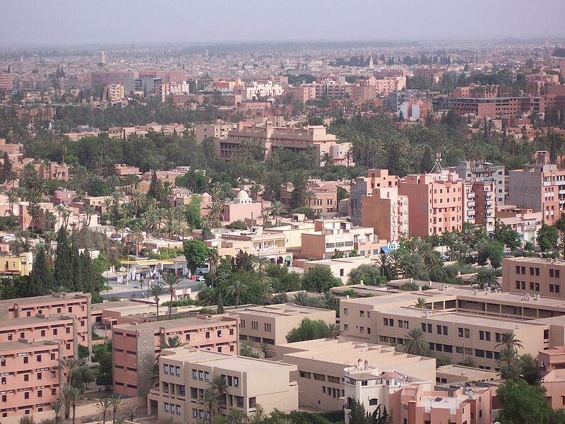 مدينه مراكش المغربيه المدينه الحمراء صور ومعلومات 800px-MoroccoMarrakech_townfromhill