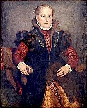 Zibellino - Angelica Agliardi De Nicolinis holding an unadorned zibellino, c. 1560s