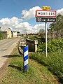 Mortiers (Aisne) city limit sign, pont sur la Serre.JPG