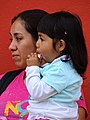 Mother and Daughter in Street - Cholula - Puebla - Mexico (15545735395).jpg