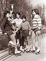 Motiv iz parka Tivoli - kotalkanje - športno igrišče 1961.jpg