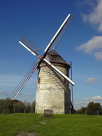 Watten, Nord - Image: Moulin Watten