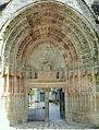 Moutier-d'Ahun - Abbaye - Détail du portail gothique.JPG
