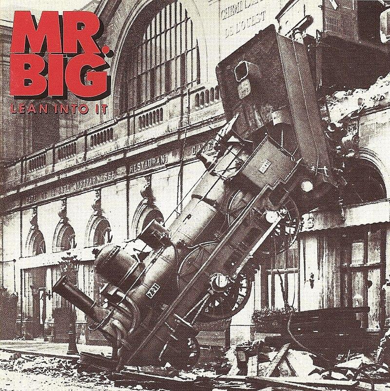 Portada del álbum Lean into it (1991), de Mr. Big.