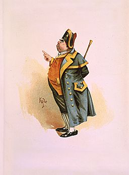 Mr Bumble 1889 Dickens Oliver Twist character by Kyd (Joseph Clayton Clarke)