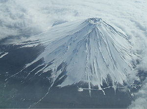 BOAC Flight 911 - Mount Fuji seen from the air