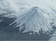 Mount Fuji as seen from an airliner
