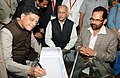 Mukhtar Abbas Naqvi along with the Minister of State for Power, Coal, New and Renewable Energy and Mines (Independent Charge), Shri Piyush Goyal and the Minister of State for External Affairs (1).jpg