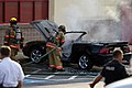Mustang car fire at CVS on Key West Highway in North Potomac MD July 12 2012 (7575614320).jpg