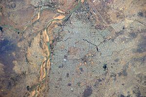 N'Djamena - Astronaut's view of N'Djamena (Fort-Lamy)