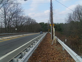 County Route 571 (New Jersey) - Route 64 and CR 571 heading northbound in West Windsor towards Penns Neck