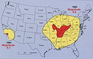 1811–12 New Madrid earthquakes - Image: NMSZ Vergleich