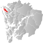 Locator map showing Radøy within Hordaland