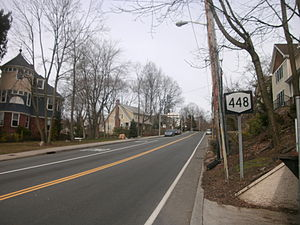 New York State Route 448 - NY 448 proceeding north from US 9 in Sleepy Hollow