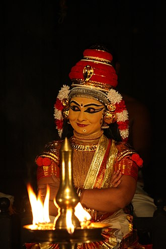 Koodiyattam - Koodiyattam Character Subhadra in Subhadra Dhananjayam, Performed by Dr Indu G at Nepathya's Koothambalam, Moozhikkulam