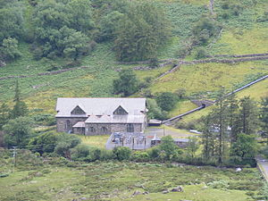 Portmadoc, Beddgelert and South Snowdon Railway - Nant Gwynant power station