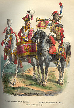 Napoleon Guard Horse Drummer and Trumpeter by Bellange.jpg