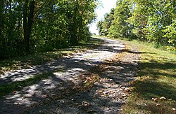 Peacock Road, an old alignment of the National Road
