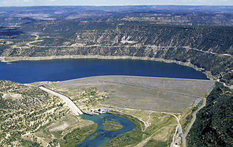 Navajo Dam - View of Navajo Dam from the air