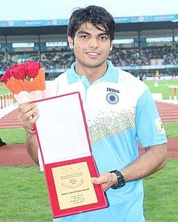 Neeraj Chopra Indian javelin thrower (born 1997)